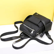Women Multi-fuction Oxford Backpack Lady Shoulder Bag Casual Black Tote 115312