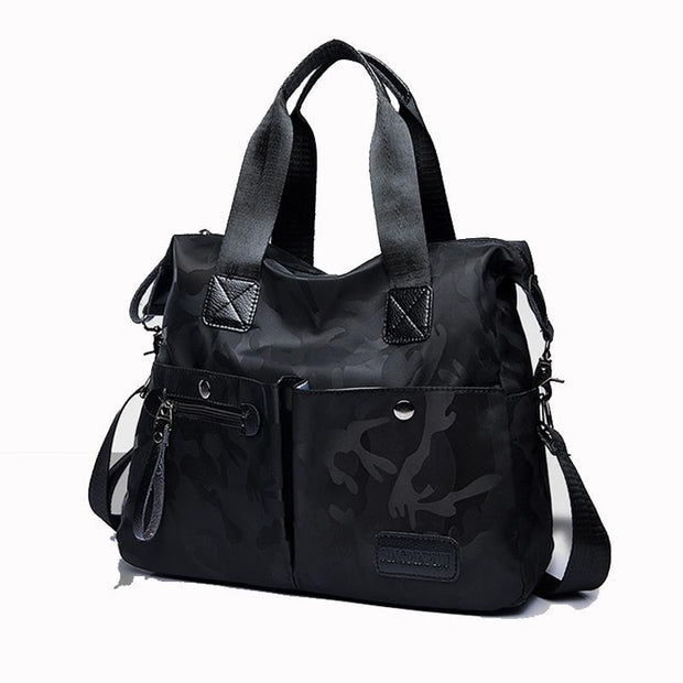 Pierrebuy _ Fashion Women Tote, Camouflage Oxford Female Shoulder Bag Waterproof Bag 115573_designer bags