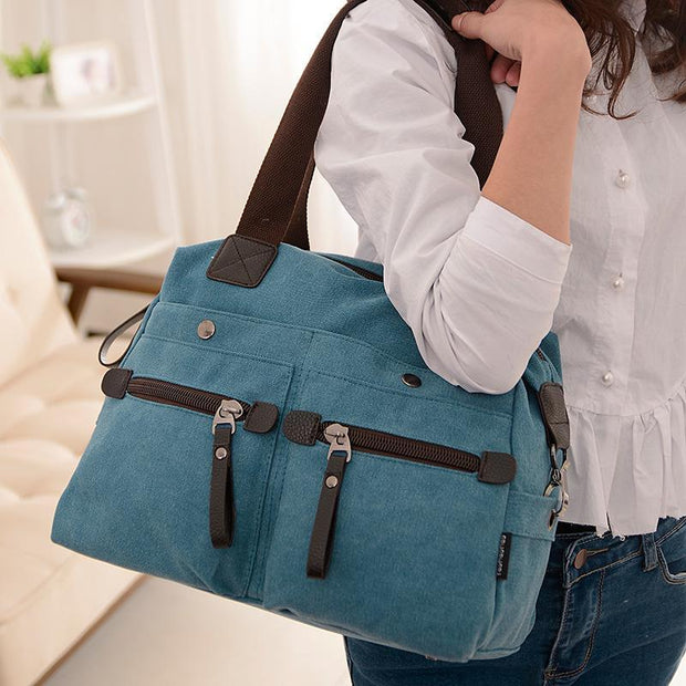 Pierrebuy _ Fashion Canvas Women Handbag High Quality Crossbody Bags For Women Large Capacity Rivet Shoulder Bag 115592_designer bags