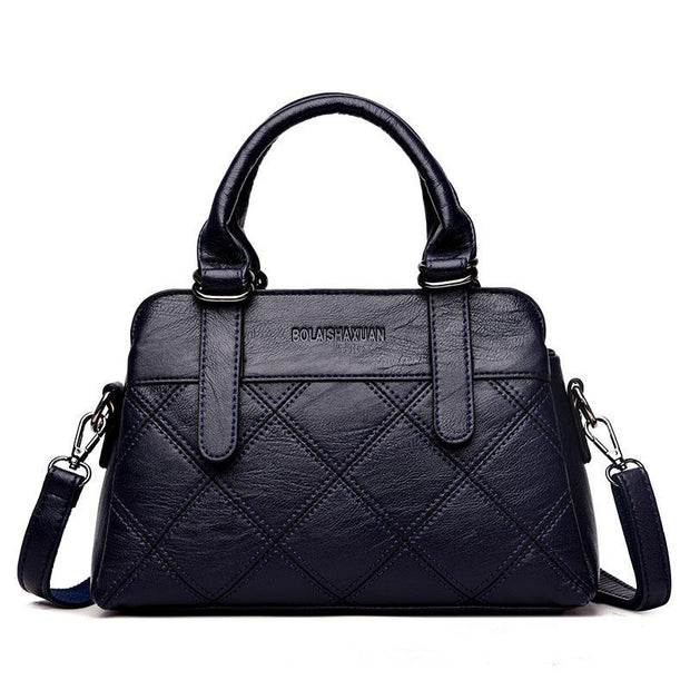 Plaid Larger Cpacity Female Shoulder Handbag