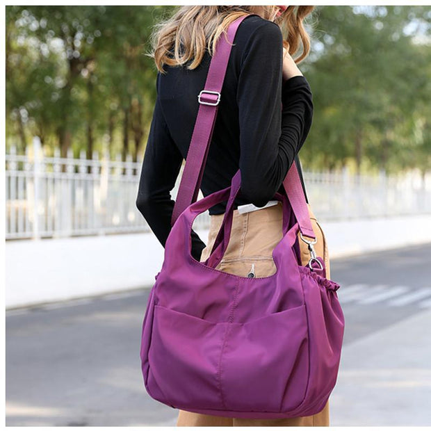 Solid Large Capacity Waterproof Handbags Shoulder Bags