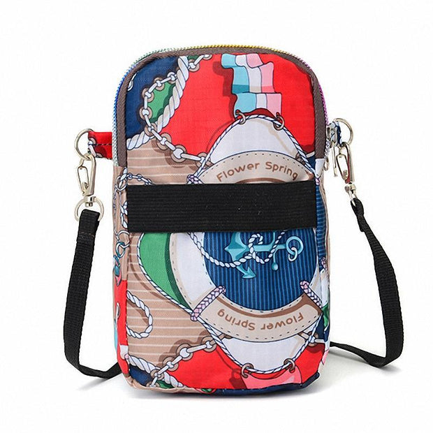 Women Colorful Phone Pocket Crossbody Bags
