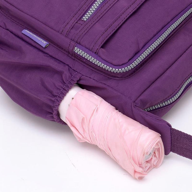 Multi-Pocket Nylon Waterproof Crossbody Bag