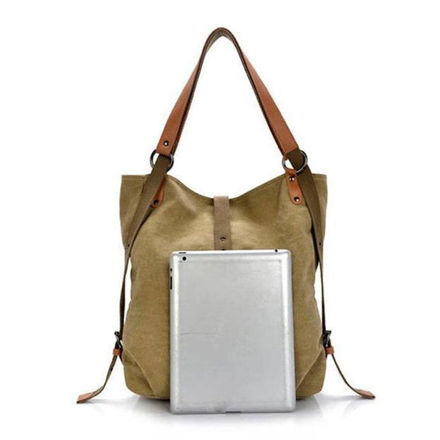 Women Casual Canvas Multifunction Shoulder Bag