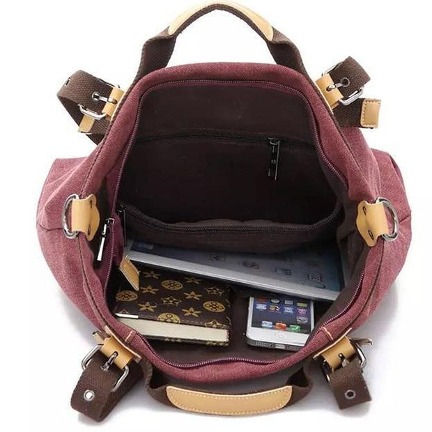 Women Canvas Shoulder Cross Body Bag 108441