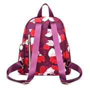 Multi-Pocket Lightweight Floral Backpack
