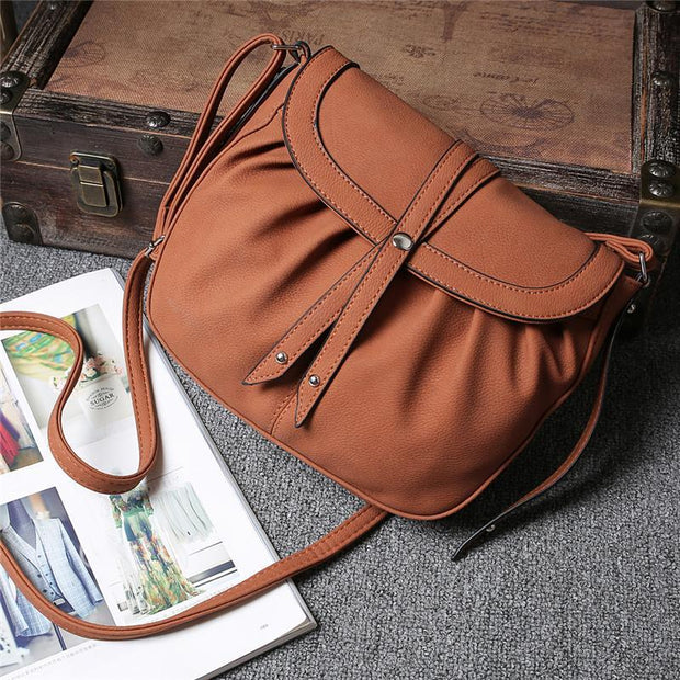 Large Capacity Women Solid Crossbody Bags