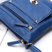 Simply Stylish Solid Zipper Crossbody Bag