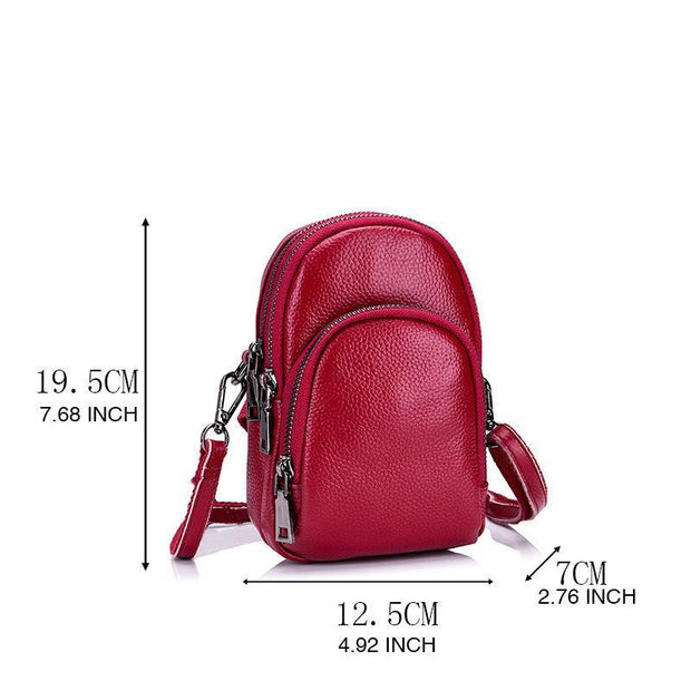 Genuine Leather Casual Crossbody Phone Bag