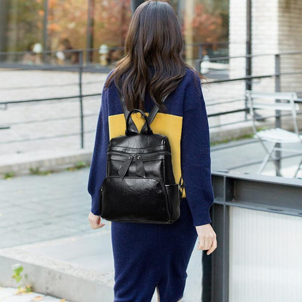 Women British Stylish Retro Backpack