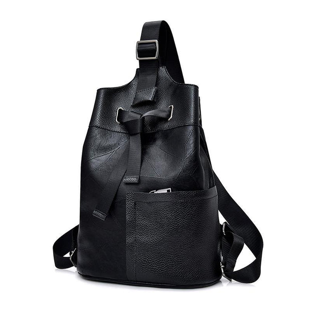 Women Patchwork Casual Anti Theft Backpack