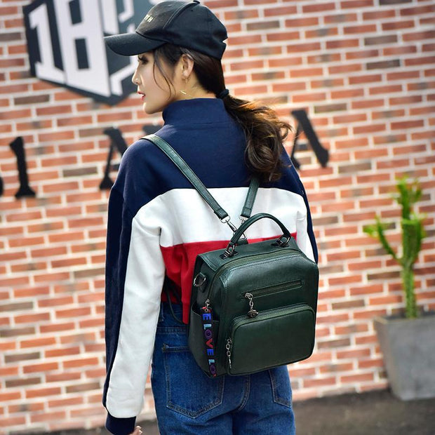 Women Multifunction Retro Small Backpack
