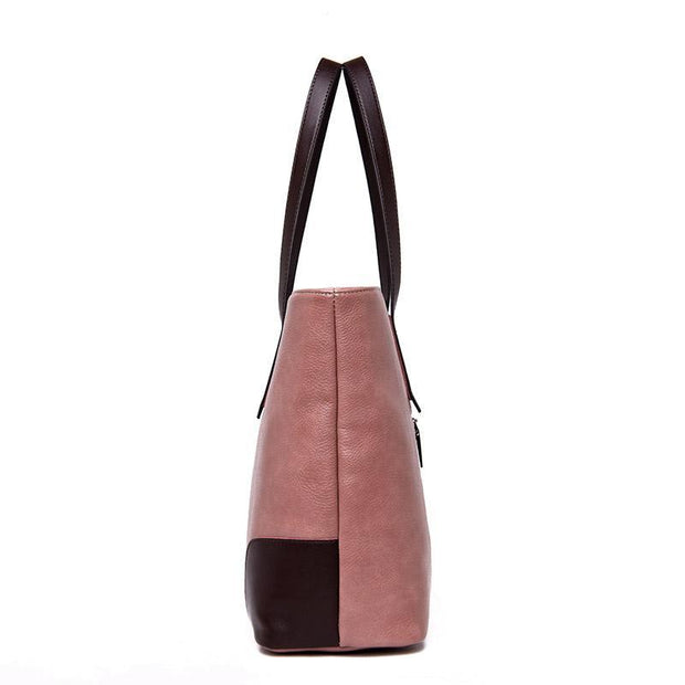 Women Large Capacity Plain Tote Bag