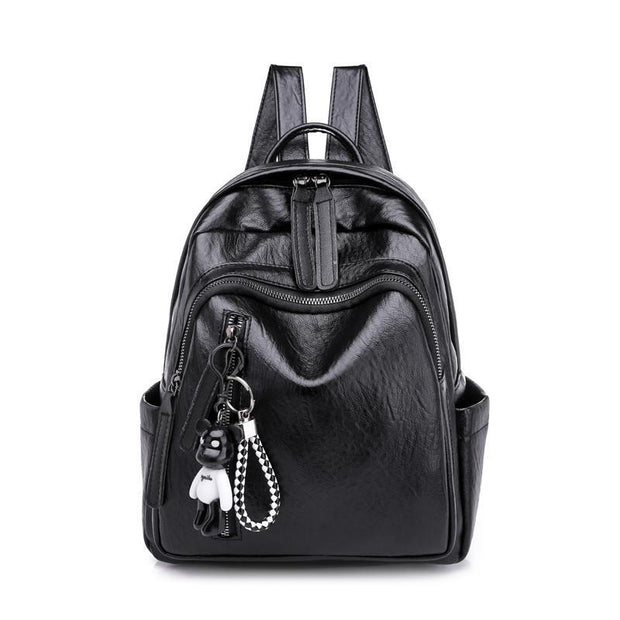 Solid Casual Daily School Travel Backpack