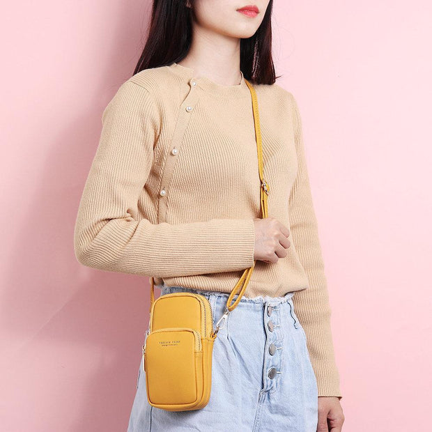 Women Multi-Pockt Mini Crossbody Phone Bag
