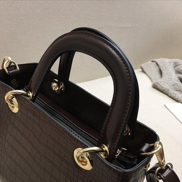 Women Fashion PU Leather Shoulder Handbag