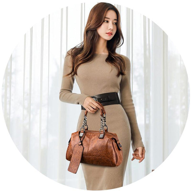 Ladies Multifunction Vintage Boston Handbag