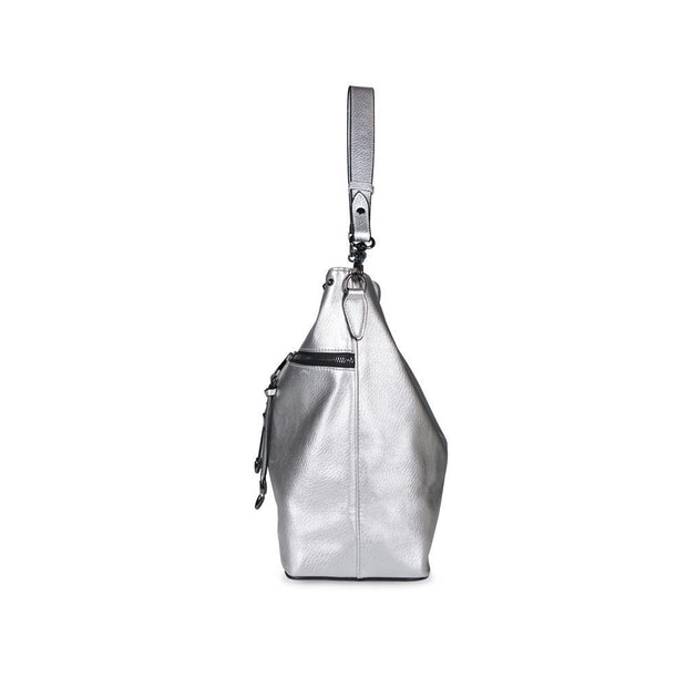Large Capacity Silver Studded Tote Bag