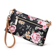 Luxury Leather Floral Crossbody Bag