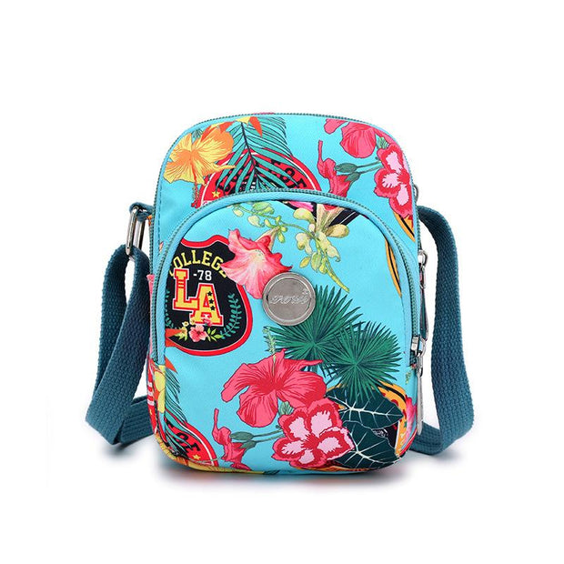 Floral Print Waterproof Mini Shoulder Bag