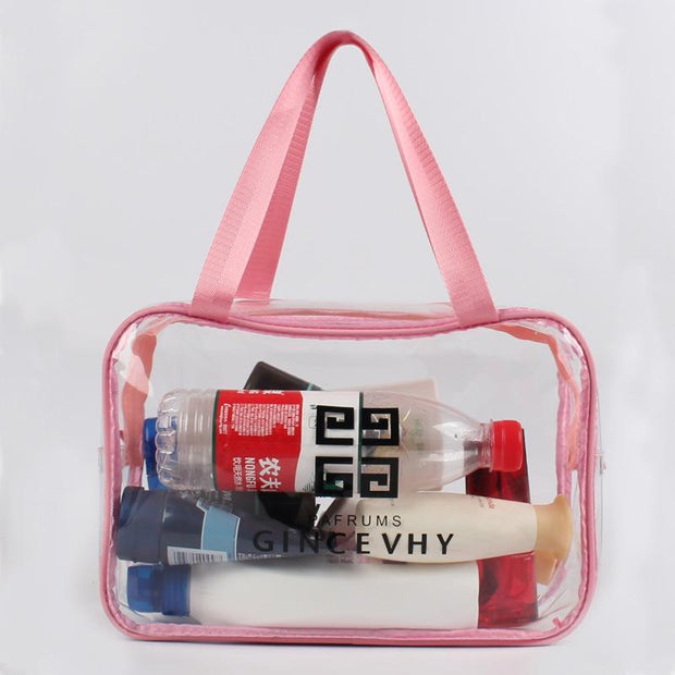 New PVC cosmetic bag men and women-style transparent wash bag multi-functional cosmetic finishing 131844