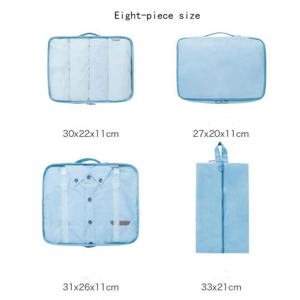 High quality waterproof travel storage bag set of eight combination of seven sets of cross-border 131657