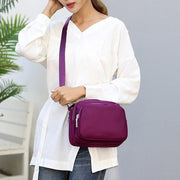 Women Nylon Casual Multi-pocket Crossbody Bag Waterproof Shoulder Bag 131419