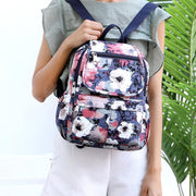 Multi-pocket Waterproof Floral School Travel Backpack