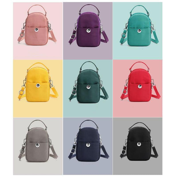 Large Capacity Solid Color Phone Crossbody Bag