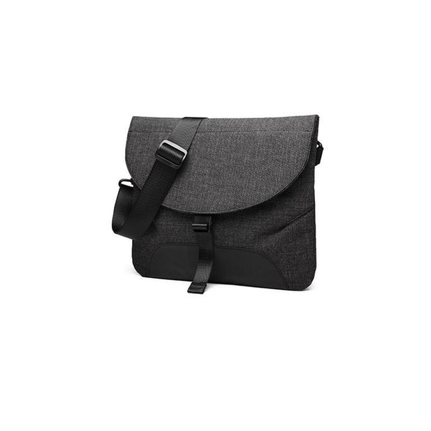 Men's Canvas Solid Color Waterproof Crossbody Bag