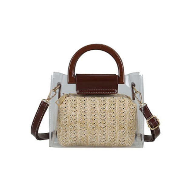 Summer Straw Woven Crossbody Bag