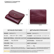 Fashion Leather Multi-Function Small Wallet