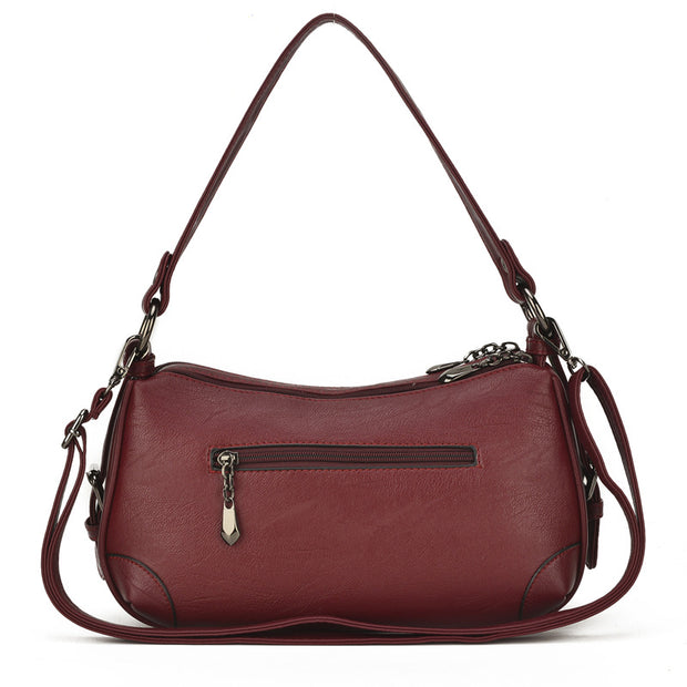 Women's Soft Leather Messenger Bag