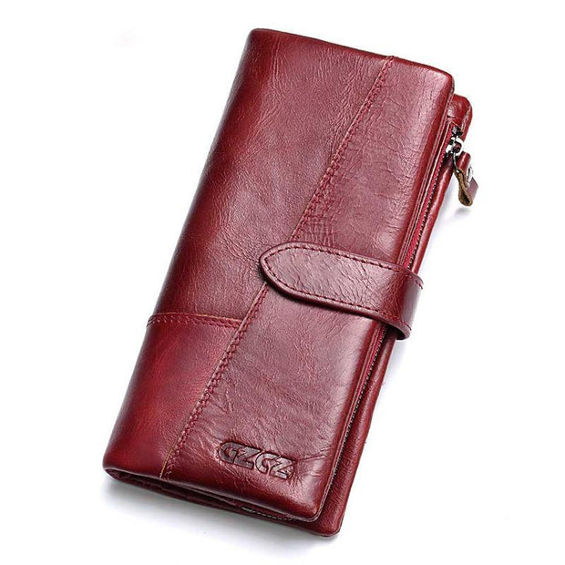 Multi-function Leather  Long Wallet