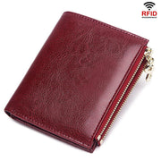 RFID Large Capacity Coin Pocket Short Wallet