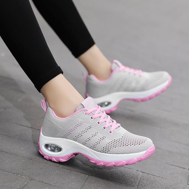 Women Flying Woven Air Cushion Shoes