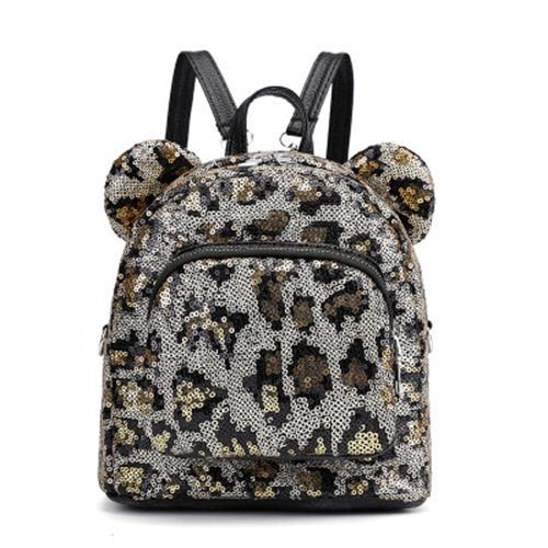 Super shiny slice backpack lady cute backpack mini backpack travel bag 134909