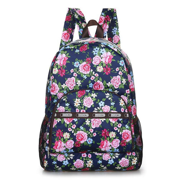 Outdoor leisure women travel backpack folding student bag 125585
