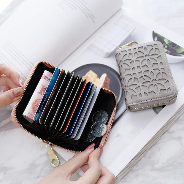 Fashion Hollow Design Large Capacity Short Wallet