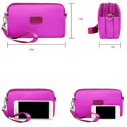 135111 Waterproof three-layer zipper coin purse mobile phone bag wrist bag handbag