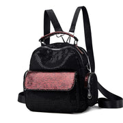 135115 New Backpack Casual Backpack Women's Contrast Soft Leather Women's Backpack