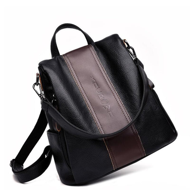 135131 New retro backpack female Korean fashion casual student bag