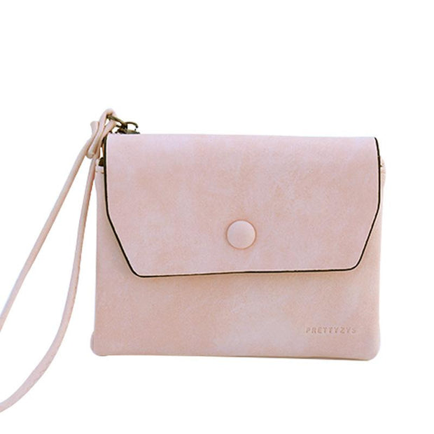 135140 New Scrub Retro Cover Women's Wallet Short Student Temperament Small Wallet Coin Purse Clutch