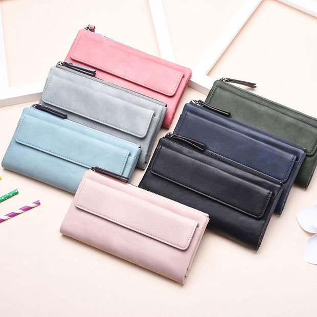 135146 Women's hand holding wallet female long section new personality small fresh student zipper