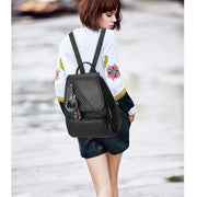 135148 Multi-function backpack new fashion handbag zipper decorative student backpack