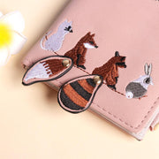 Cute Carton Printed Leather Wallet