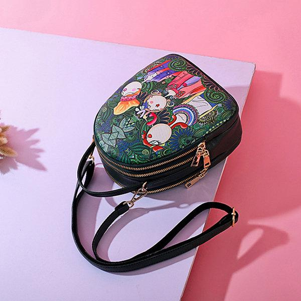 Printed Bohemian Multi-function Travel Backpack Shoulder Bag