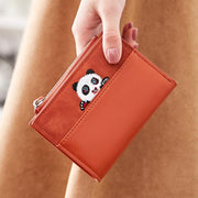 Cute Panda Prined Leather Folding Wallet(Any 2 get 10% off by code: BUY2)