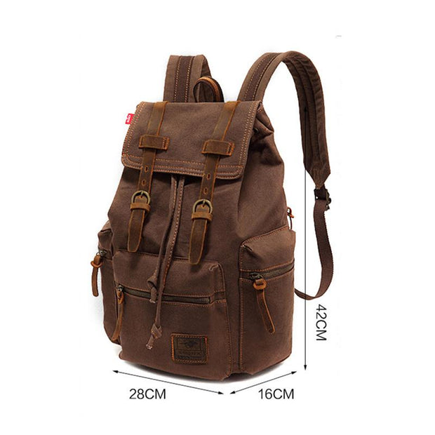 135176 Canvas bag vintage men's bag backpack computer bag