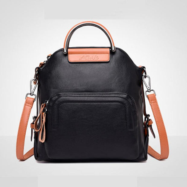 Retro Leather Women's Backpack